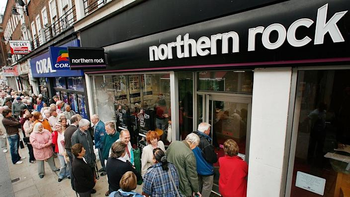 Northern Rock collapsed in September 2007 before being nationalised