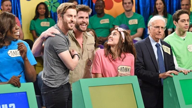 Liam Hemsworth joins as a surprise guest on SNL Saturday night. Source: NBC