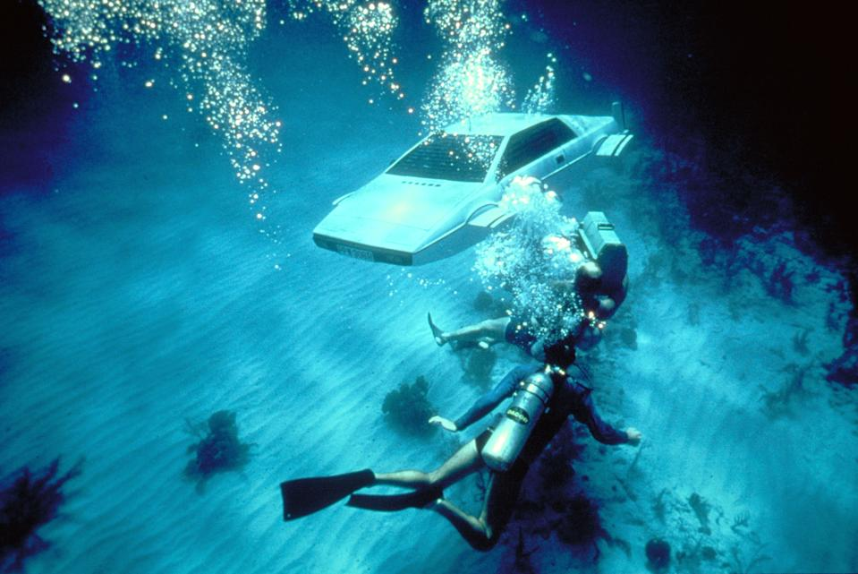 James Bond's amphibious Lotus Esprit appeared in 'The Spy Who Loved Me'. (Photo by Sunset Boulevard/Corbis via Getty Images)
