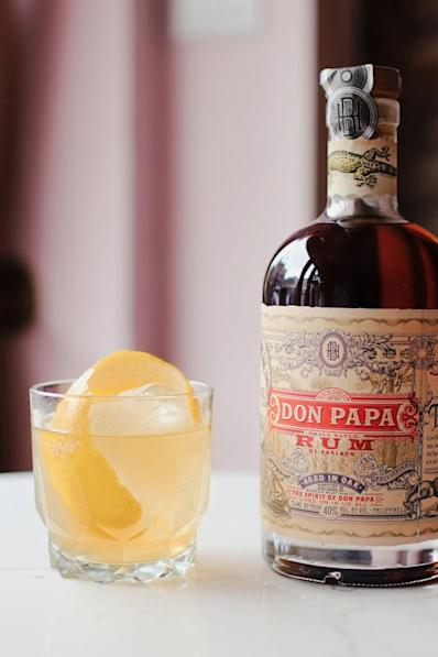 """<p><strong>Ingredients</strong></p><p>1 oz Don Papa Rum<br>1 oz Limoncello<br>1 oz Vermouth Blanc</p><p><strong>Instructions</strong></p><p>Pour all ingredients into a mixing glass with ice and stir for thirty seconds. Pour into a rocks glass over a large piece of ice and zest with a generous peel of lemon.</p><p><em>From <a href=""""https://shortstories.nyc/"""" rel=""""nofollow noopener"""" target=""""_blank"""" data-ylk=""""slk:Short Stories"""" class=""""link rapid-noclick-resp"""">Short Stories</a> in NYC.</em></p>"""