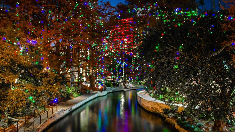 The San Antonio Riverwalk During Christmas