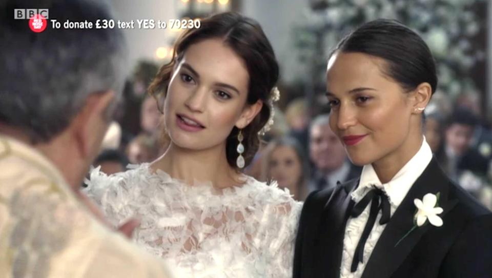 Hollywood stars Lily James and Alicia Vikander were new additions to the Four Weddings cast list.