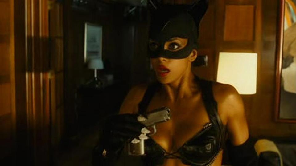 "<p>Receiving her Razzie for <em>Catwoman</em>, Berry decided to directly criticise the studio who cast her in it. ""I want to thank Warner Bros for casting me in this piece-of-s***, god-awful movie. It was just what my career needed – I was at the top, now I'm at the bottom."" It would be another seven years before Berry worked with Warner Brothers again, for another terrible movie: <em>New Year's Eve</em>. </p>"