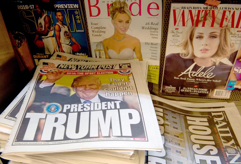 <p>El New York Post apoyó la reelección de Trump</p> (AFP via Getty Images)