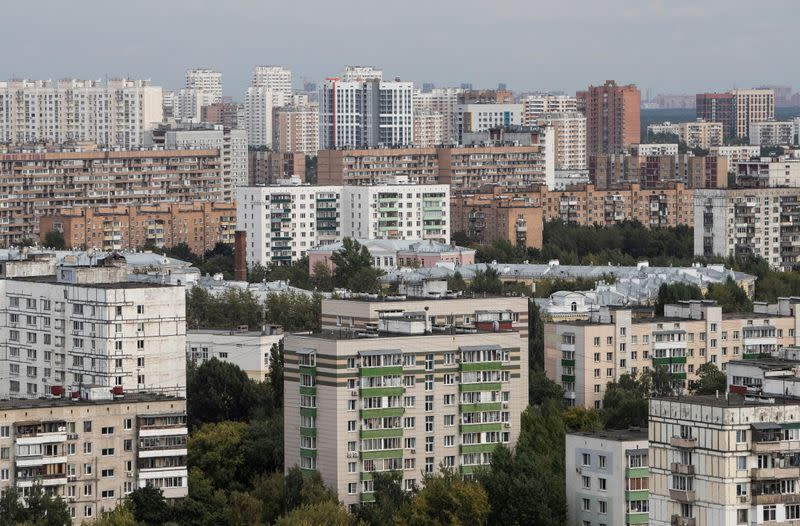 FILE PHOTO: A general view of apartment blocks in Moscow