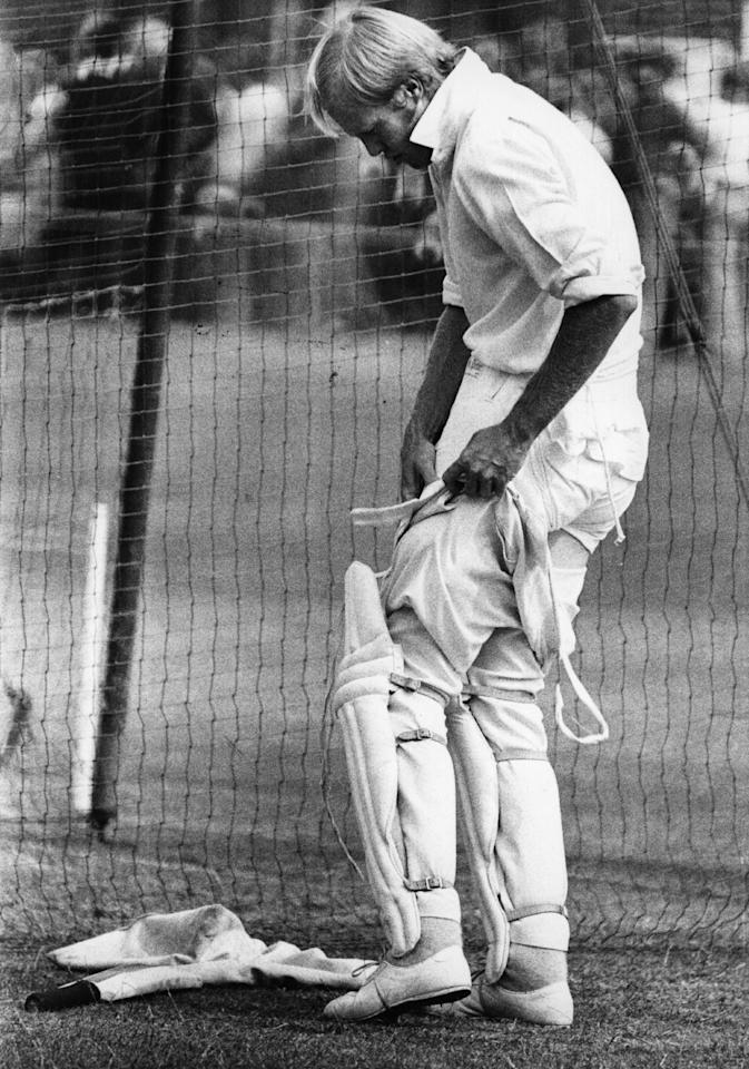 Tony Greig, Sussex and England cricketer, prepares for the Test match against Australia at Lord's cricket ground, London.    (Photo by Evening Standard/Getty Images)