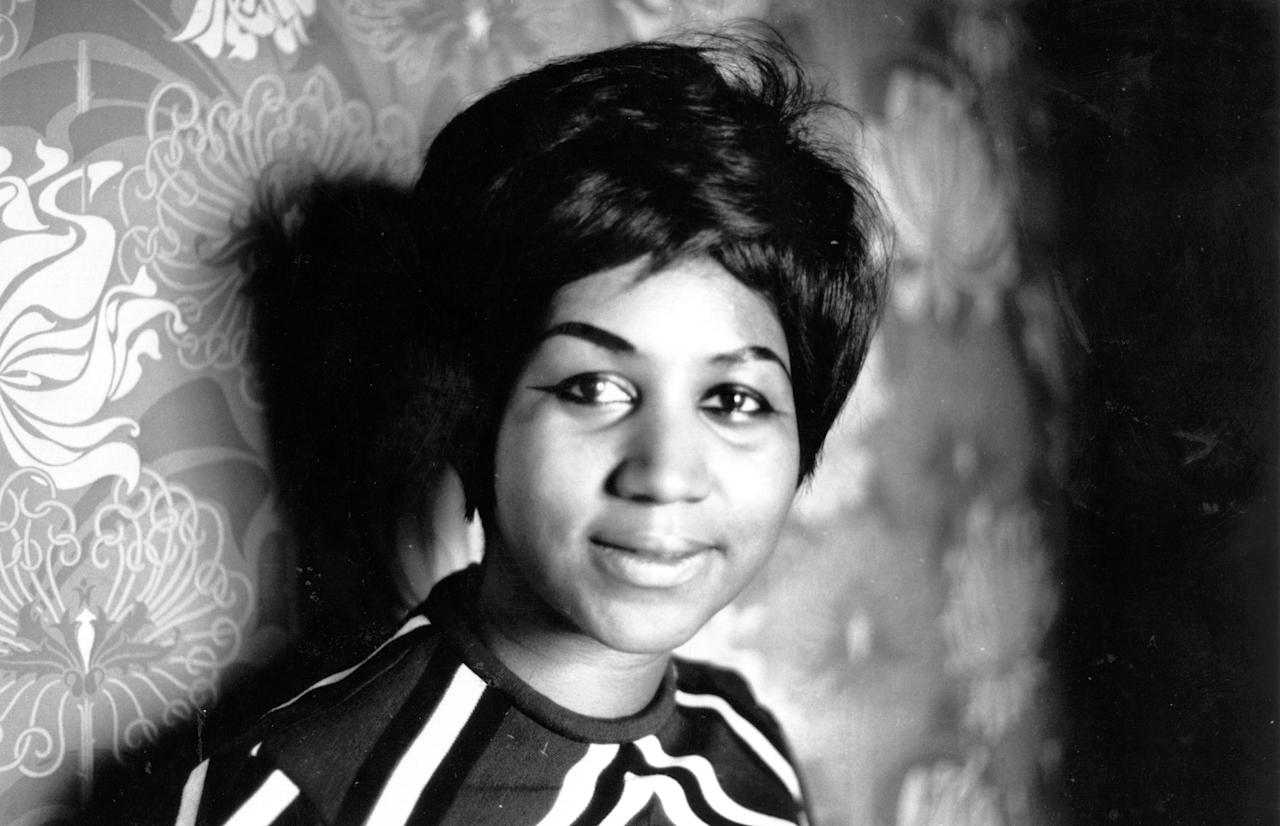 <p>Aretha Franklin after joining the Atlantic record label in 1968. (Getty) </p>