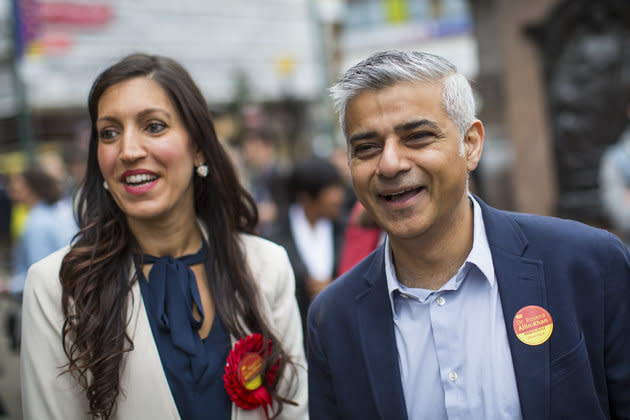 Labour's shadow sports minister Rosena Allin-Khan (pictured with London mayor Sadiq Khan)backed the TUC's calls