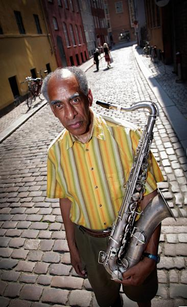 FILE - July. 7, 2006 file photo, of Jazz saxophonist John Tchicai in Copenhagen, Denmark. Danish saxophonist and pioneer of free jazz in Europe, John Tchicai died Monday Oct. 8, 2012. He was 76. Tchicai moved to New York in 1963 and co-founded The New York Contemporary Five with Archie Shepp. He later became a leading figure of the jazz avant-garde movement in Europe. He also played with John Coltrane, Milford Graves, Carla Bley and Steve Swallow. Tchicai was born to a Danish mother and a Congolese father in Denmark. He returned to Europe in 2001 and eventually settled in southern France. (AP Photo/Polfoto/Morten Langkilde, file) DENMARK OUT