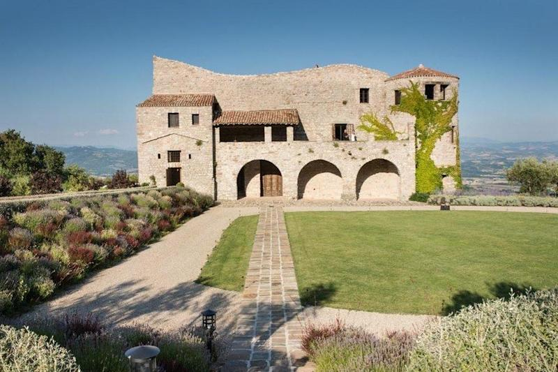 The winning bidder — and their friends — will enjoy panoramic views from the eight-bedroom castle