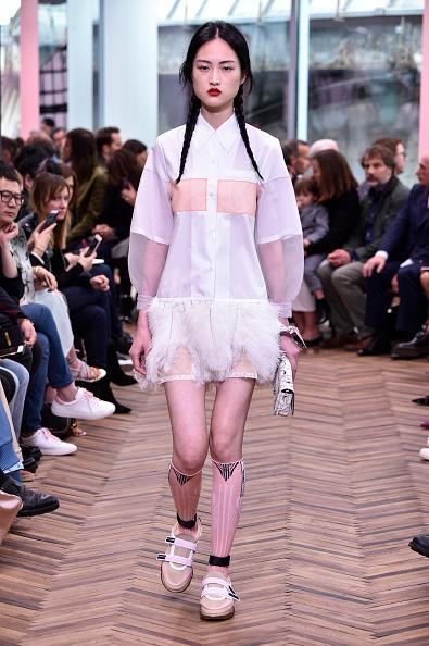 <p>A model at the Prada Resort Collection 2018 show at Osservatorio Prada in Milan. (Photo: Getty Images) </p>