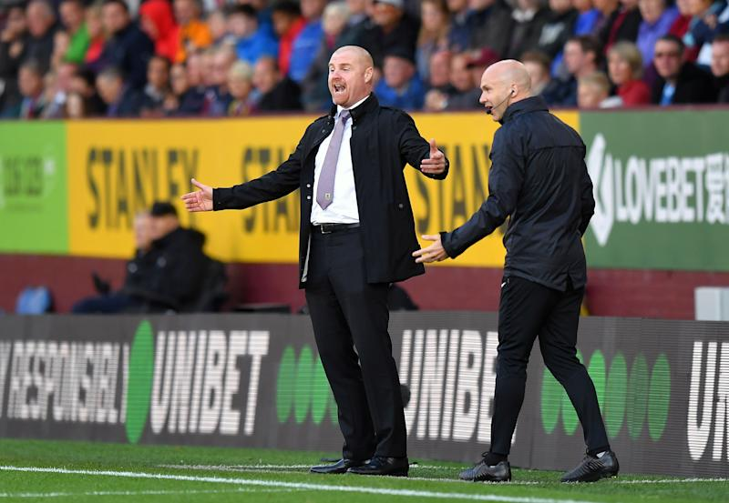 Burnley manager Sean Dyche reacts on the touchline Burnley v Liverpool - Premier League - Turf Moor 31-08-2019 . (Photo by Dave Howarth/EMPICS/PA Images via Getty Images)