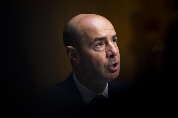 "<span class=""element-image__caption"">Eugene Scalia, the US labor secretary.</span> <span class=""element-image__credit"">Photograph: Xinhua/REX/Shutterstock</span>"
