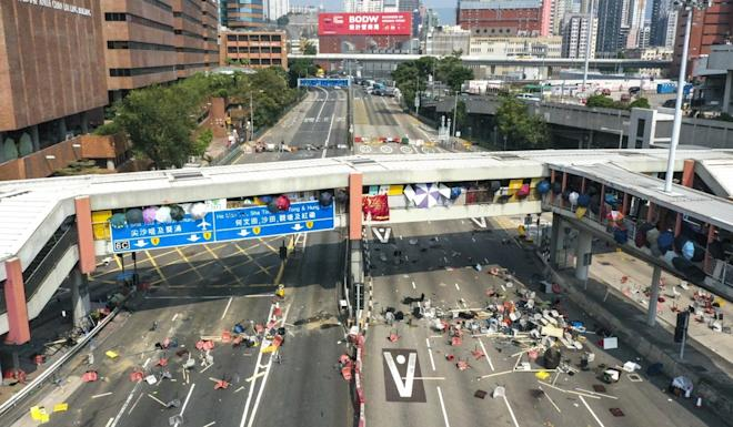 No way through at the entrance to the Cross-Harbour Tunnel. Photo: Roy Issa