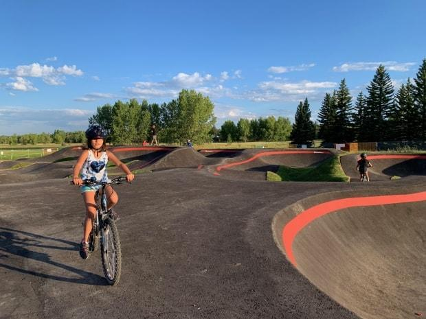 The South Glenmore Bike Pump Track is pictured in this handout photo. (Submitted by Parks Foundation Calgary - image credit)