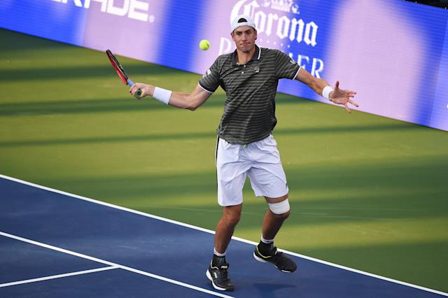 American John Isner reached a deal with a CBD sports drink company this week, becoming the first tennis player to do so. (Getty Images)