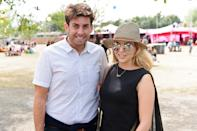 LONDON, ENGLAND - JULY 05: James 'Arg' Argent and Lydia Bright attend day 3 of the New Look Wireless Festival at Finsbury Park on July 5, 2015 in London, England. (Photo by Joseph Okpako/WireImage)