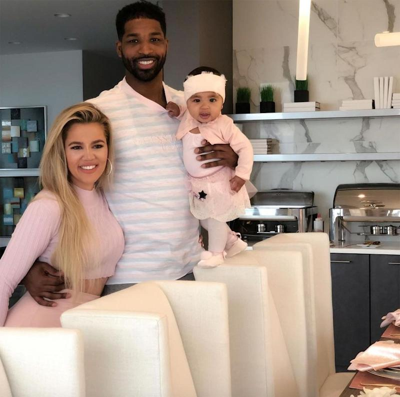 Khloé Kardashian, Tristan Thompson, and True | Tristan Thompson/Instagram
