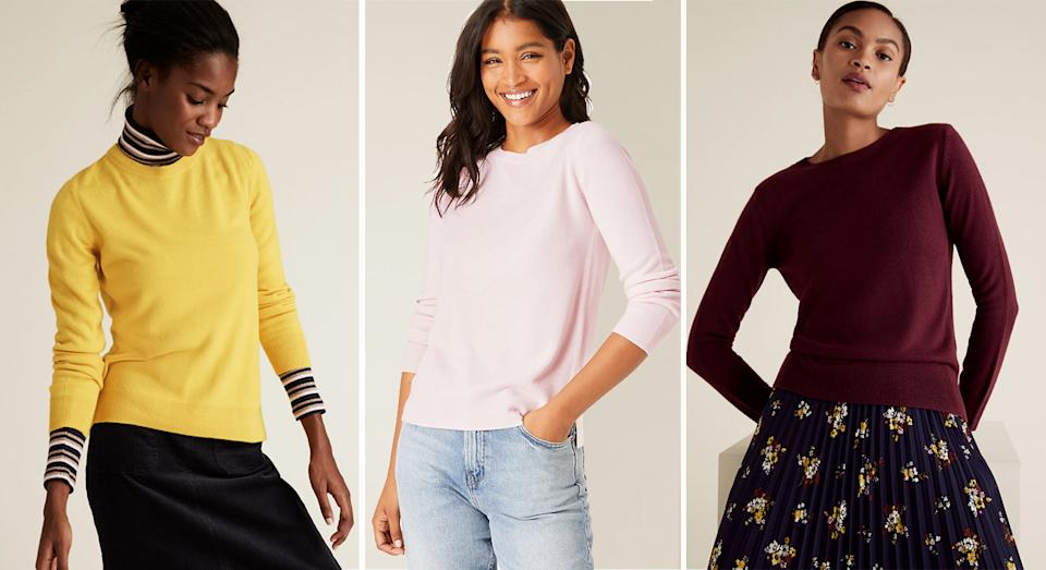 Marks and Spencer's Supersoft Crew Neck Jumper garners glowing reviews from shoppers.  (M&S)