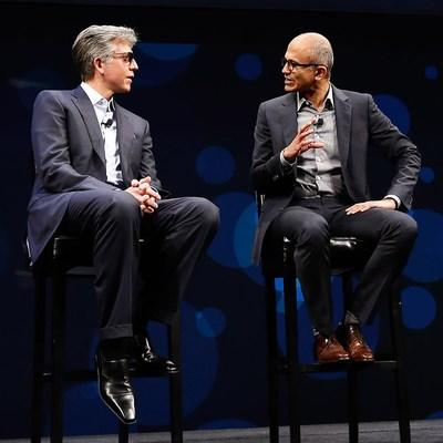 SAP CEO Bill McDermott and Satya Nadella, CEO at Microsoft, double down on their commitment to partnership.