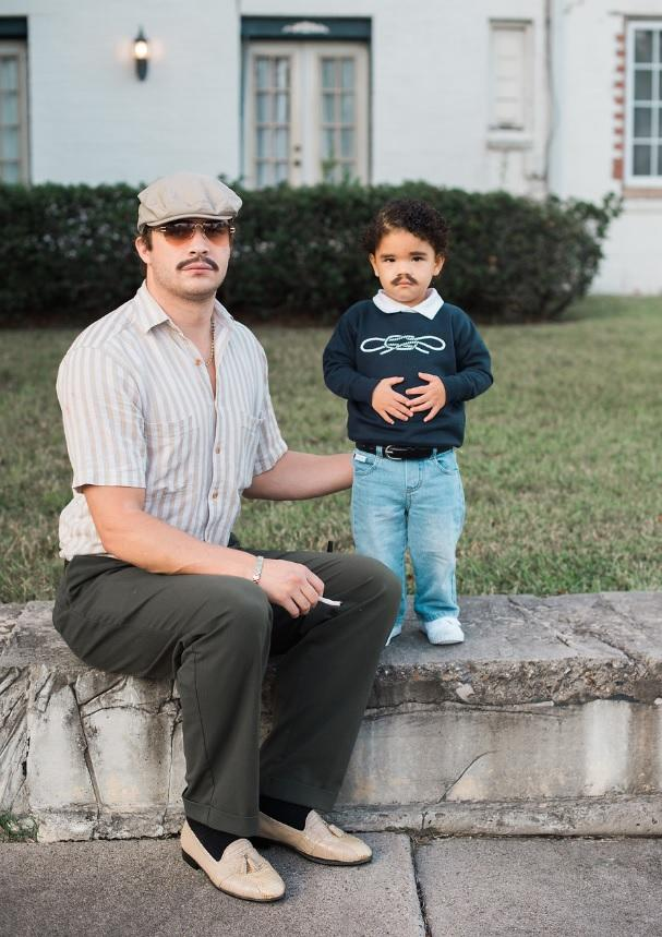 Matt Taylor and his daughter Jada in their 'Narcos' inspired Halloween costume. (Photo: Rachel Taylor)