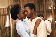 """<p>From Barry Jenkins — director of <em><a href=""""https://www.amazon.com/Moonlight-Mahershala-Ali/dp/B01MU9CMGJ?tag=syn-yahoo-20&ascsubtag=%5Bartid%7C10063.g.34933377%5Bsrc%7Cyahoo-us"""" rel=""""nofollow noopener"""" target=""""_blank"""" data-ylk=""""slk:Moonlight"""" class=""""link rapid-noclick-resp"""">Moonlight</a></em>, which is its own sort of romance — comes this James Baldwin adaptation. It's about a couple, madly in love and expecting a child, whose relationship is upended when one of them is accused of a crime he didn't commit.</p><p><a class=""""link rapid-noclick-resp"""" href=""""https://www.amazon.com/If-Beale-Street-Could-Talk/dp/B07MCMJCGY?tag=syn-yahoo-20&ascsubtag=%5Bartid%7C10063.g.34933377%5Bsrc%7Cyahoo-us"""" rel=""""nofollow noopener"""" target=""""_blank"""" data-ylk=""""slk:WATCH ON AMAZON"""">WATCH ON AMAZON</a> <a class=""""link rapid-noclick-resp"""" href=""""https://go.redirectingat.com?id=74968X1596630&url=https%3A%2F%2Fwww.hulu.com%2Fmovie%2Fif-beale-street-could-talk-a862614d-c49e-4208-b934-1476963896fe&sref=https%3A%2F%2Fwww.redbookmag.com%2Flife%2Fg34933377%2Fbest-romantic-movies%2F"""" rel=""""nofollow noopener"""" target=""""_blank"""" data-ylk=""""slk:WATCH ON HULU"""">WATCH ON HULU</a></p>"""