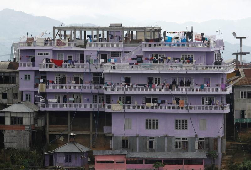 FILE PHOTO: A view of Ziona's 4 storey house in Baktawng