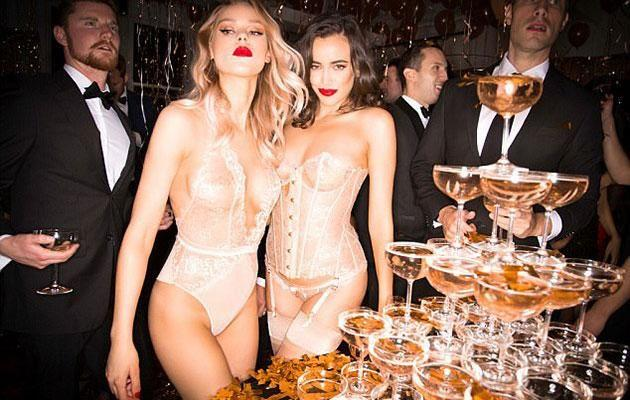 The women drunk champers while the men wore suits. Photo: Honey Birdette
