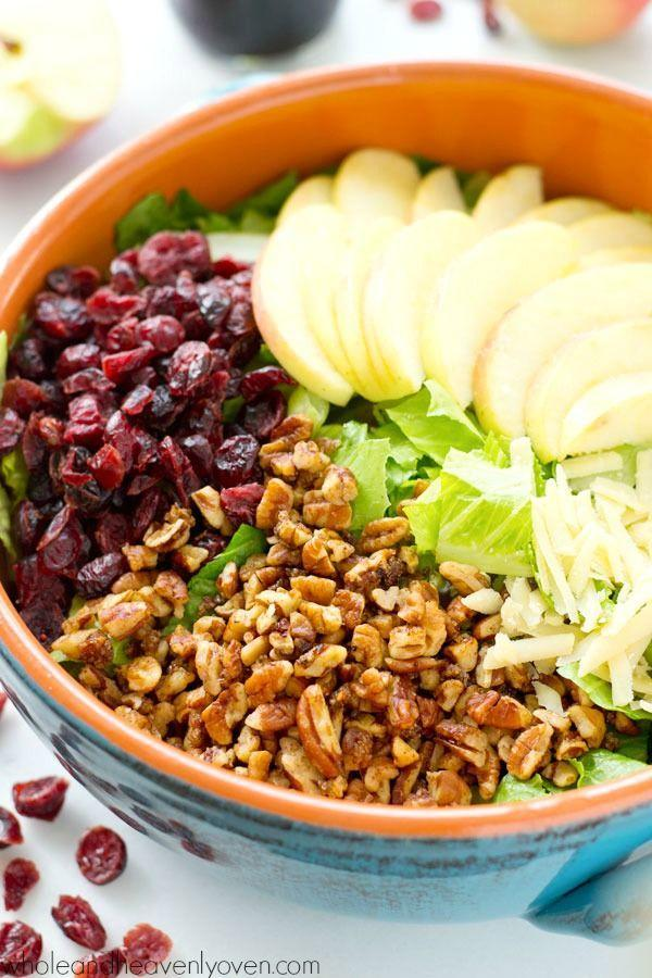 """<p>You fancy.</p><p>Get the recipe from<span class=""""redactor-invisible-space""""> <a href=""""http://wholeandheavenlyoven.com/2015/10/26/bistro-fall-salad-with-apples-candied-pecans-maple-balsamic-dressing/"""" rel=""""nofollow noopener"""" target=""""_blank"""" data-ylk=""""slk:Whole and Heavenly Oven"""" class=""""link rapid-noclick-resp"""">Whole and Heavenly Oven</a>.</span></p>"""