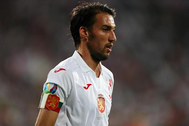 The Bulgaria captain was seen trying to stop fans from being racist. (Photo by Catherine Ivill/Getty Images)