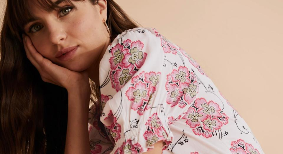M&S' Floral Midi Dress garners glowing reviews from shoppers.  (M&S)