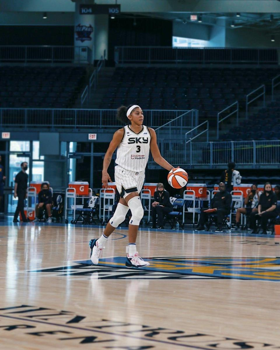 Candace Parker joins the Chicago Sky in 2021 after 13 seasons with the Los Angeles Sparks.