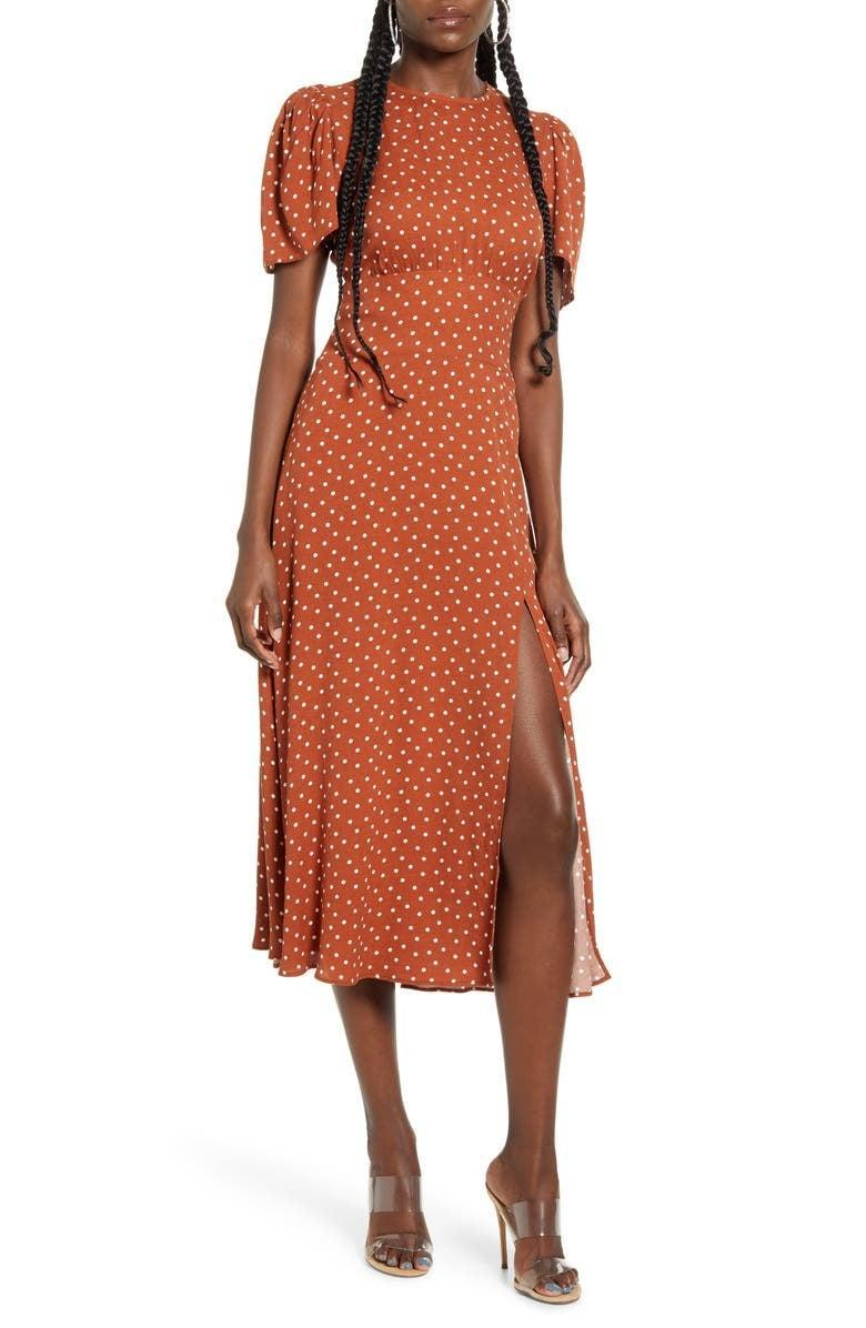 <p><span>AFRM Jamie Print Open Back Short Sleeve Dress</span> ($40, originally $89)</p>