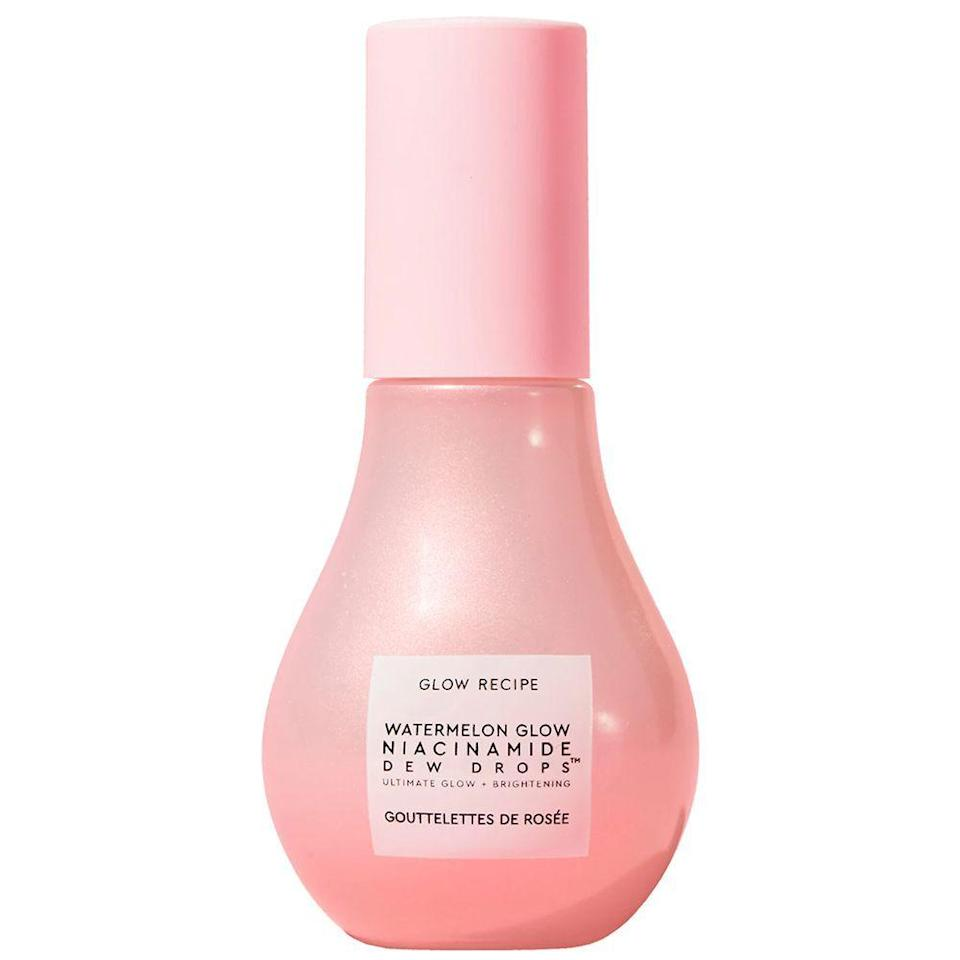 """<p><strong>Glow Recipe</strong></p><p>sephora.com</p><p><strong>$34.00</strong></p><p><a href=""""https://go.redirectingat.com?id=74968X1596630&url=https%3A%2F%2Fwww.sephora.com%2Fproduct%2Fglow-recipe-watermelon-glow-niacinamide-dew-drops-P466123&sref=https%3A%2F%2Fwww.bestproducts.com%2Fbeauty%2Fg33534382%2Ftiktok-beauty-products%2F"""" rel=""""nofollow noopener"""" target=""""_blank"""" data-ylk=""""slk:Shop Now"""" class=""""link rapid-noclick-resp"""">Shop Now</a></p><p>TikToker <a href=""""https://www.tiktok.com/@glamzilla/video/6926793707815488773?is_copy_url=1&is_from_webapp=v1"""" rel=""""nofollow noopener"""" target=""""_blank"""" data-ylk=""""slk:Glamzilla"""" class=""""link rapid-noclick-resp"""">Glamzilla</a> went viral after posting about Glow Recipe's amazing line of watermelon-infused products, but this serum0highlighter hybrid was the clear winner out of all of them. </p><p>It's infused with niacinamide, hyaluronic acid, and watermelon to give you a dewy """"glow from within"""" finish. Use it as part of your usual skincare routine, or even use it as your radiance-boosting makeup primer like <a href=""""https://www.tiktok.com/@glamzilla/video/6933454408604765445"""" rel=""""nofollow noopener"""" target=""""_blank"""" data-ylk=""""slk:Glamzilla does herself"""" class=""""link rapid-noclick-resp"""">Glamzilla does herself</a> — there's no going wrong with this pick.</p>"""