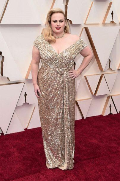 PHOTO: Rebel Wilson arrives at the Oscars, Feb. 9, 2020, in Hollywood, Calif. (Jordan Strauss/Invision/AP)