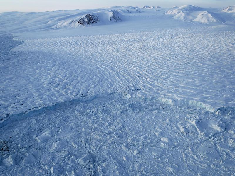 Researchers reported declining sea ice and melting glaciers in the Arctic: Getty