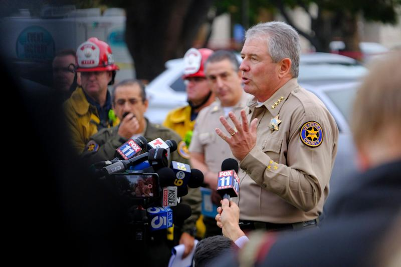 Ventura County Sheriff Geoff Dean identifies Ian Long as the shooter at the Borderline Bar & Grill in Thousand Oaks.