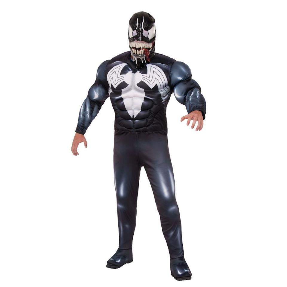 "<p><strong></strong></p><p>halloweencostumes.com</p><p><strong>$69.99</strong></p><p><a rel=""nofollow"" href=""https://www.halloweencostumes.com/deluxe-adult-venom.html"">Shop Now</a></p><p>Going as the new adaptation of Venom? This costume will do just the trick. If the mask isn't intense enough for you, there's an even <a rel=""nofollow"" href=""https://www.halloweencostumes.com/adult-deluxe-venom-latex-mask.html"">larger one </a>with a giant tongue hanging out. </p><p><strong>More:</strong> <a rel=""nofollow"" href=""https://www.bestproducts.com/lifestyle/news/g1771/top-trending-halloween-costumes/"">The Top Trending Costumes for Halloween 2018</a></p>"