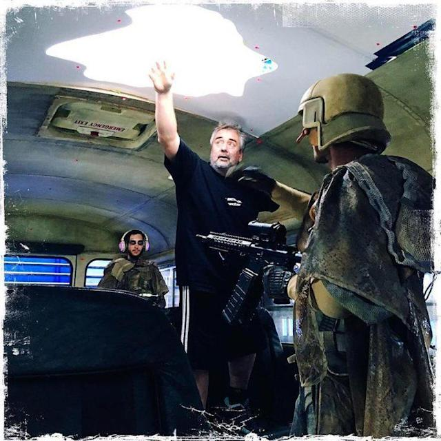 Luc Besson directing 'Valerian' (Photo: Luc Besson via Instagram)