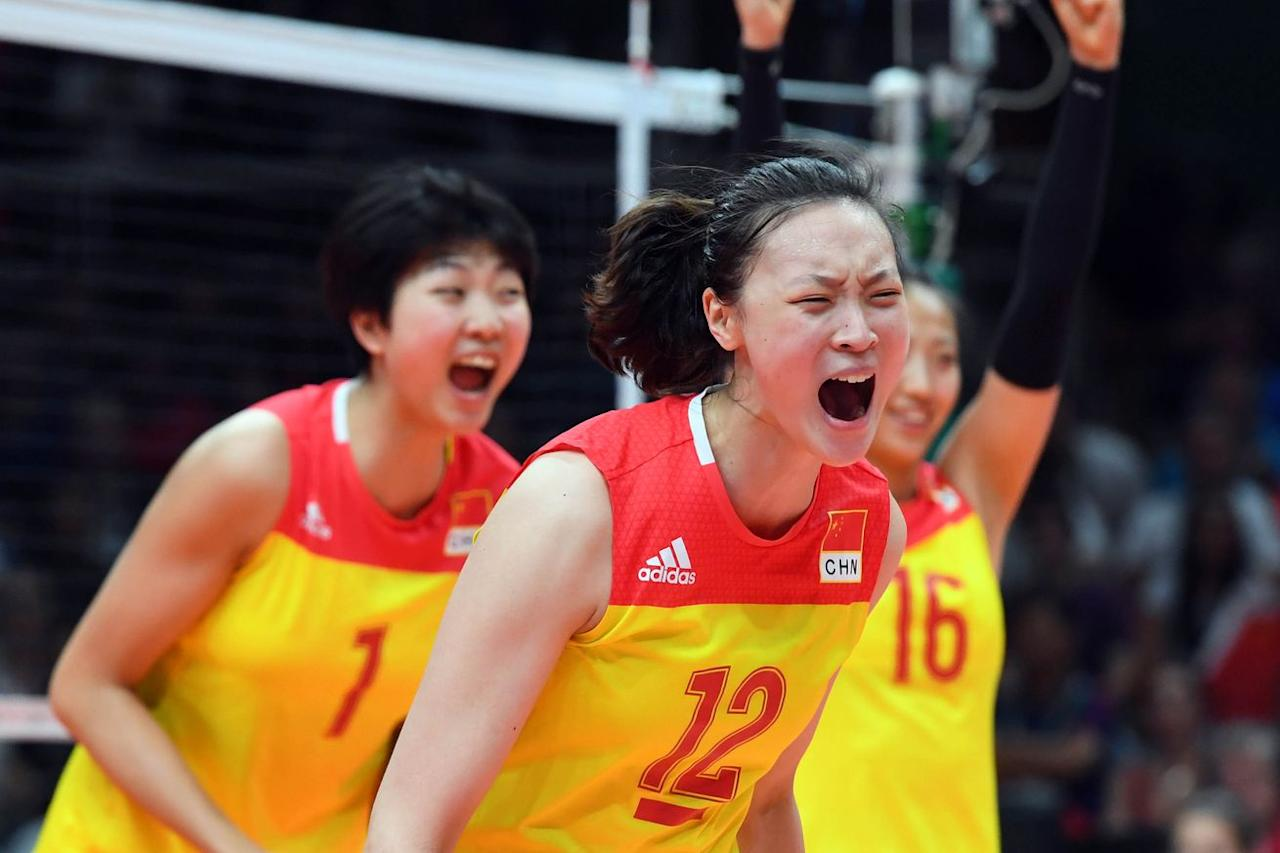 China wins third gold medal in women's Olympic volleyball