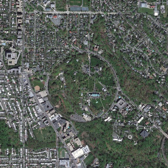 A satellite image of the United States Naval Observatory from April 2012. (Photo: DigitalGlobe via Getty Images)