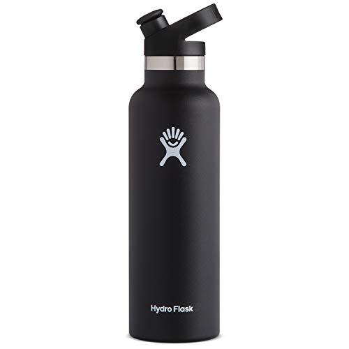 Hydro Flask Stainless Steel Vacuum Insulated Sports Water Bottle with Cap, Black, 21 Ounce (Amazon / Amazon)