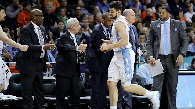 Luke Maye announced on Instagram Thursday that he is removing his name from the NBA draft pool to return to North Carolina for his senior season.