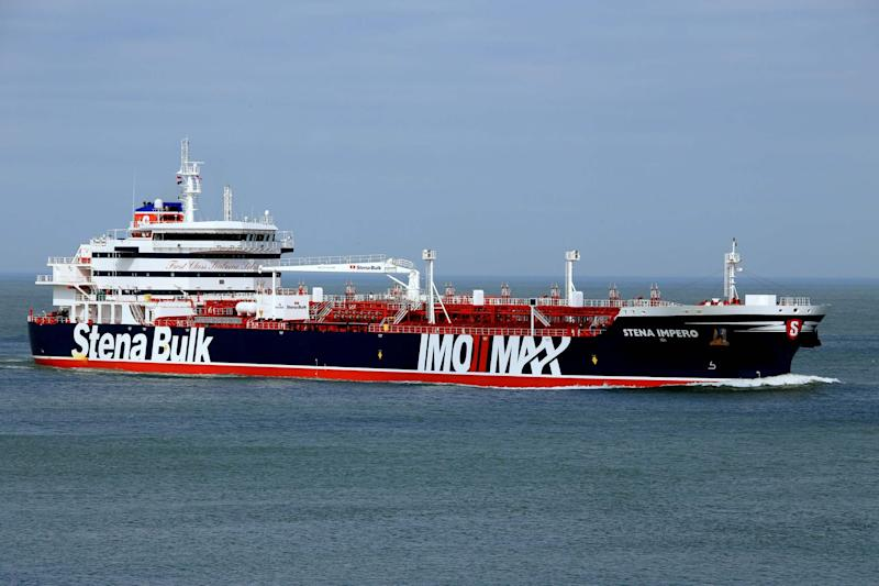 Seized by Iran: the Stena Impero oil tanker (EPA)