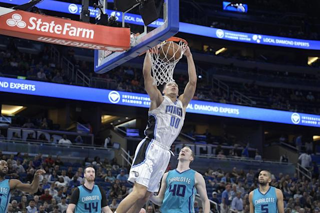 The Magic need to decide if Aaron Gordon is a part of their future. (AP)