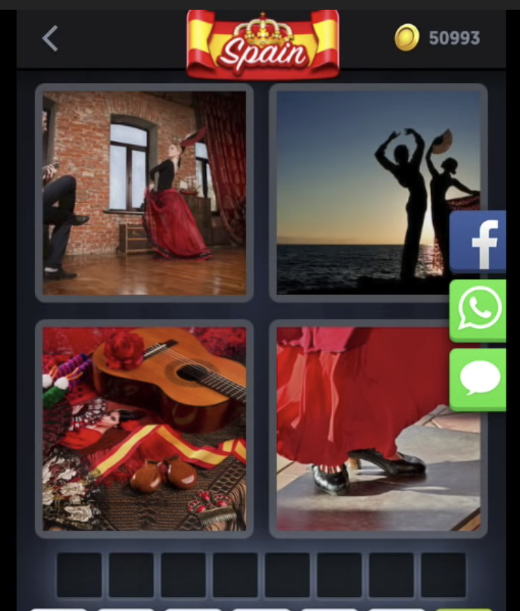4 Pics 1 Word Daily Challenge May 1 Todays 8 Letter Spain Puzzle