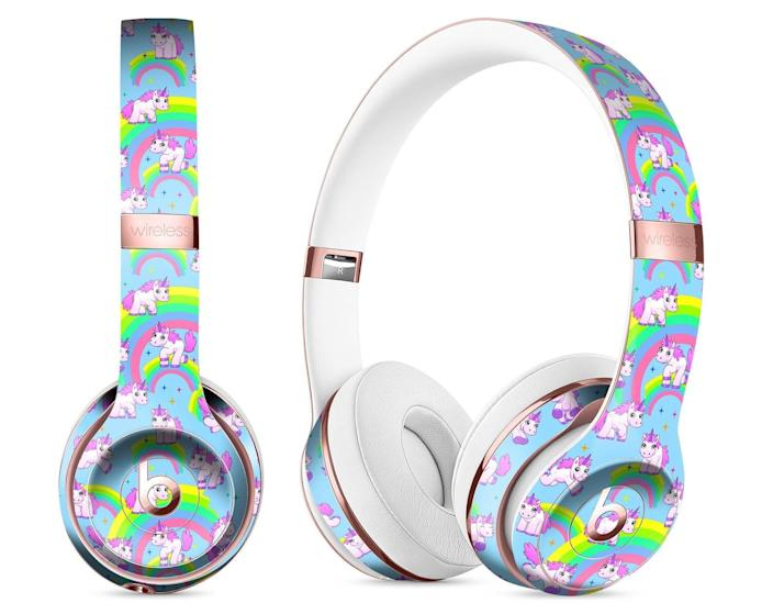 <p>Add some personality to an everyday accessory with these <span>TheSkinDudes Magical Cartoon Unicorns Headphones</span> ($13).</p>