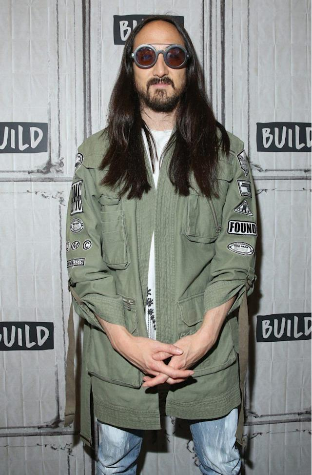 "Steve Aoki at his Dim Mak Collection ""Paradise Found"" runway show and <em>Kolony</em> album release event at the Build Studio on July 18, 2017, in New York City. (Photo by JP Yim/Getty Images for Build Series)"