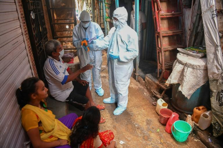 Mumbai's Dharavi slum offers a rare glimmer of hope, as new infections shrink thanks to an aggressive strategy of 'chasing' the virus (AFP Photo/INDRANIL MUKHERJEE)