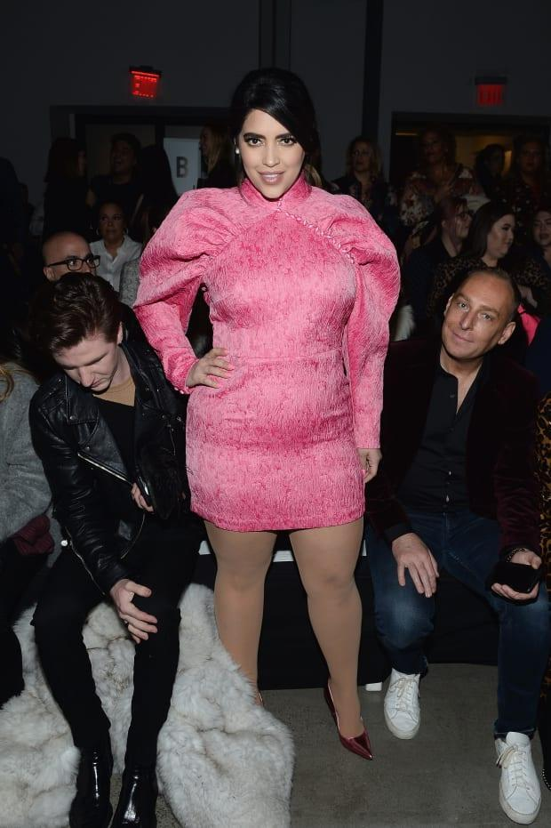 Denise Bidot sits front row at the 11 Honoré fall 2019 runway show at New York Fashion Week. Photo: Noam Galai/Getty Images for NYFW: The Shows
